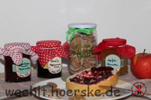 Brombeere meets Freimarkt, Apfel-Limetten Gelee, Oma´s Pflaumenmus und süße Brottaler